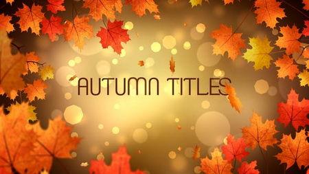دانلود پروژه آماده افتر افکت عناوین پاییزی Autumn Titles