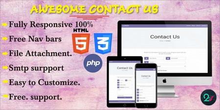 اسکریپت PHP ایجاد فرم تماس با ما Awesome Contact Us