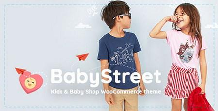 پوسته فروشگاهی لوازم کودکان BabyStreet ووکامرس