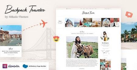 قالب مدرن و وبلاگی Backpack Traveler برای وردپرس