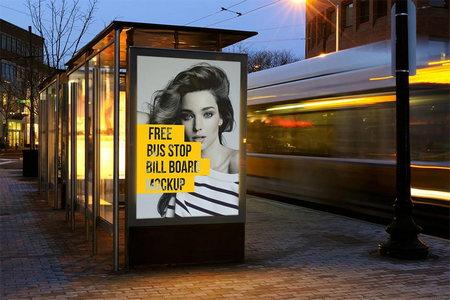دانلود 2 موکاپ بیلبورد تبلیغاتی در ایستگاه اتوبوس با کیفیت بالا