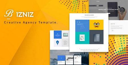 دانلود قالب HTML با طراحی خلاقانه Bizniz