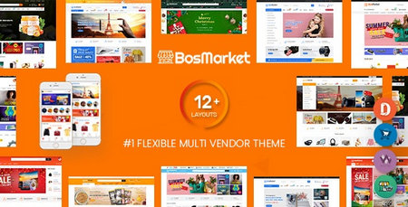 دانلود قالب BosMarket   قالب چند فروشندگی باس مارکت برای وردپرس