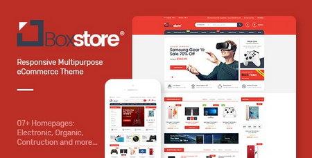 دانلود قالب فروشگاهی BoxStore برای اپن کارت