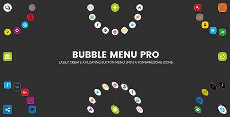 افزونه ایجاد منوهای دایره ای با آیکون در وردپرس Bubble Menu Pro
