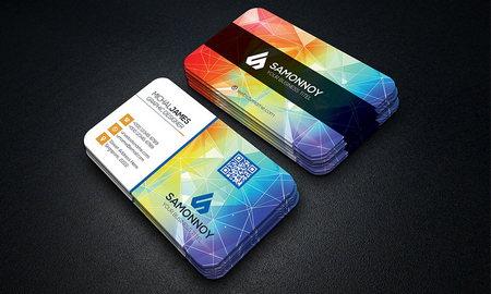دانلود طرح لایه باز کارت ویزیت شرکتی با بک گراند انتزاعی