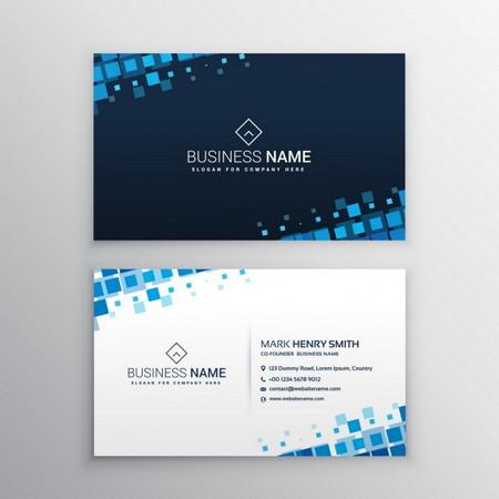 دانلود طرح لایه باز کارت ویزیت شرکتی با رنگ بندی آبی
