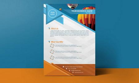 طرح لایه باز تراکت کسب و کار شرکتی با فرمت PSD برای فتوشاپ