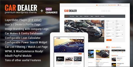 پوسته آگهی خودرو Car Dealer برای وردپرس