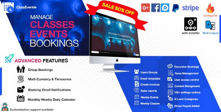 اسکریپت راه اندازی سایت رزرو آنلاین کلاس و رودیداد Classeventie