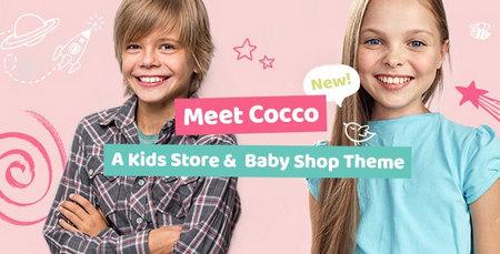 قالب فروشگاهی محصولات کودک Cocco برای وردپرس