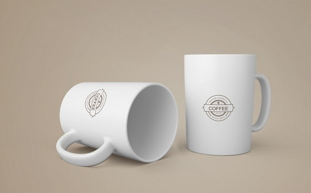 دانلود موکاپ آماده فنجان قهوه به صورت لایه باز