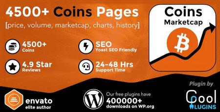 دانلود افزونه Coins MarketCap نمایش لیست ارزهای دیجیتال در وردپرس