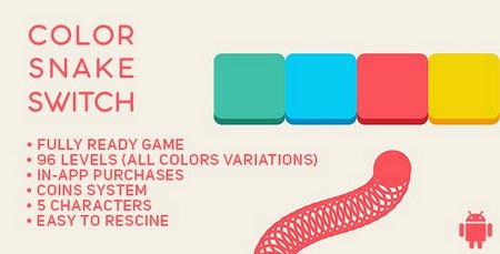 دانلود سورس اپ آماده بازی اندروید Color Snake Switch