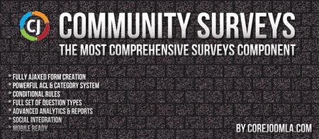 افزونه ایجاد نظرسنجی حرفه ای در جوملا Community Surveys Pro