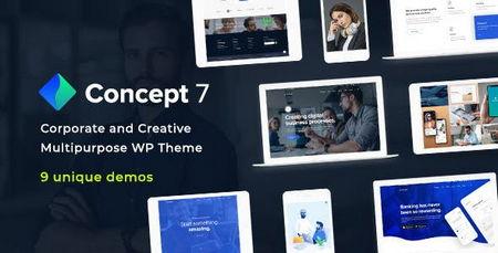 دانلود قالب شرکتی وردپرس Concept Seven