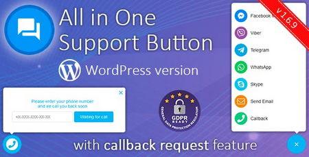 افزونه وردپرس دکمه پشتیبانی از طریق شبکه های اجتماعی All in One Support Button