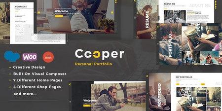 دانلود قالب Cooper   قالب شخصی و نمونه کار برای وردپرس