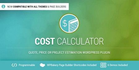 افزونه محاسبه هزینه خدمات سایت Cost Calculator برای وردپرس