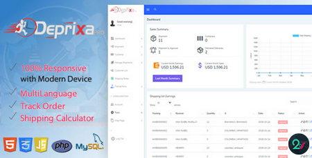 اسکریپت ایجاد سیستم حمل و نقل و باربری Courier Deprixa Pro