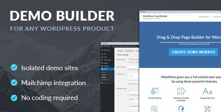 افزونه ساخت نسخه دمو برای محصولات وردپرس Demo Builder