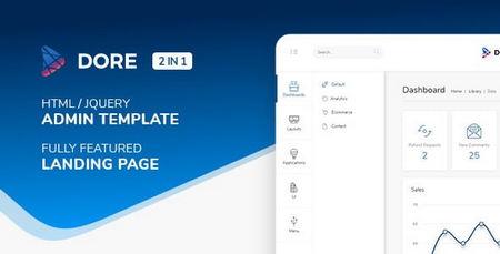 دانلود قالب HTML بخش مدیریت Dore