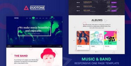 دانلود قالب HTML سایت موزیک Duotone