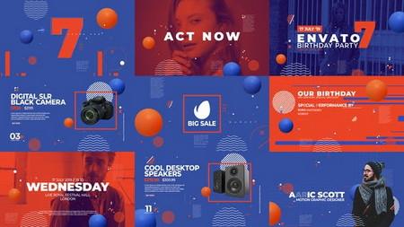 دانلود پروژه آماده افتر افکت افتتاحیه ایونت و تبلیغ محصولات Dynamic Event Opener