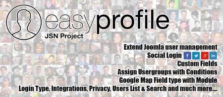 افزونه پروفایل ساز حرفه ای برای جوملا Easy Profile Pro