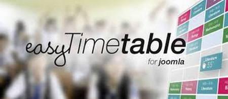 افزونه جدول زمانی برای جوملا Easy Timetable Extended