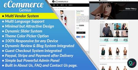 اسکریپت فروشگاه ساز قدرتمند با قابلیت چندفروشندگی Ecommerce Genius