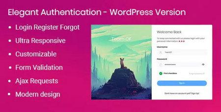 ایجاد فرم عضویت پیشرفته در وردپرس با افزونه Elegant Authentication