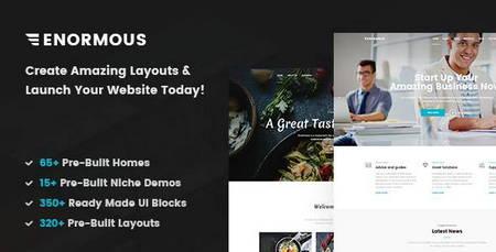دانلود قالب چندمنظوره Enormous به صورت HTML5