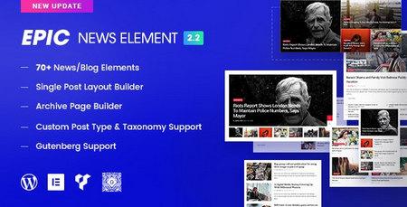 افزونه Epic News | افزودنی المنتور و ویژوال کامپوزر