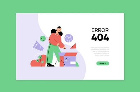 دانلود طرح لایه باز صفحه خطای 404