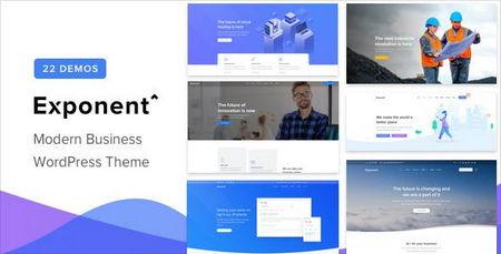 قالب شرکتی برای وردپرس Exponent