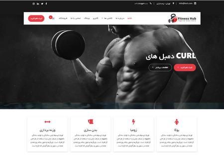 قالب ورزشی وردپرس Fitness Hub فارسی