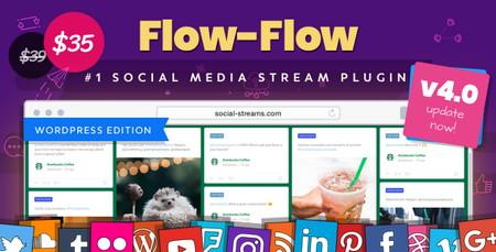 فیدخوان شبکه های اجتماعی در وردپرس با افزونه Flow-Flow