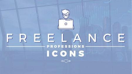 دانلود پروژه افتر افکت آیکون های حرفه ای فریلنس Freelance Professions Icons