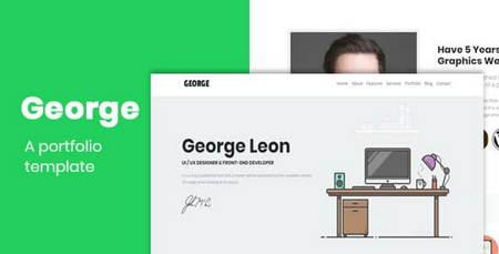 دانلود قالب HTML نمونه کار George