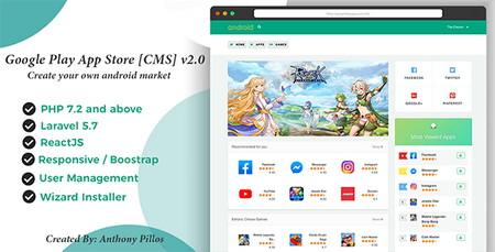 اسکریپت سیستم انتشار اپلیکیشن Google Play App Store