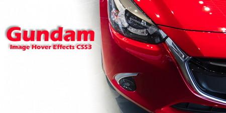 افکت CSS و HTML برای هاور شدن تصاویر Gundam
