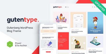 دانلود قالب وبلاگی Gutentype برای وردپرس