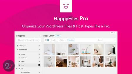افزونه سازماندهی فایل های وردپرس HappyFiles Pro