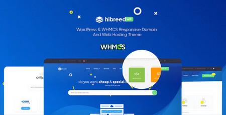 قالب هاستینگ Hibreed برای وردپرس و WHMCS