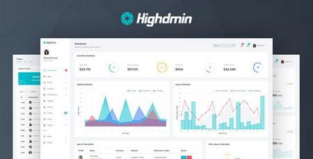 دانلود قالب HTML بخش داشبورد مدیریت Highdmin