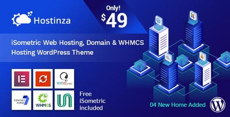 پوسته فروش هاست و دامنه Hostinza نسخه وردپرس و WHMCS