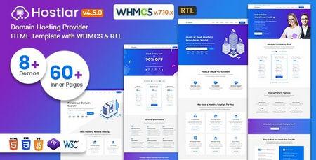 دانلود قالب هاستینگ Hostlar نسخه HTML و WHMCS