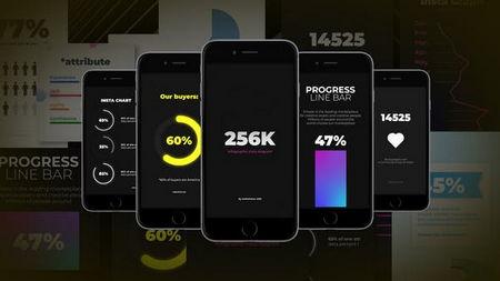 دانلود پروژه آماده افتر افکت اینفوگرافیک اینستاگرام Instagram Infographics