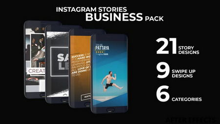 دانلود پروژه آماده افتر افکت استوری اینستاگرام Instagram Stories Business Pack